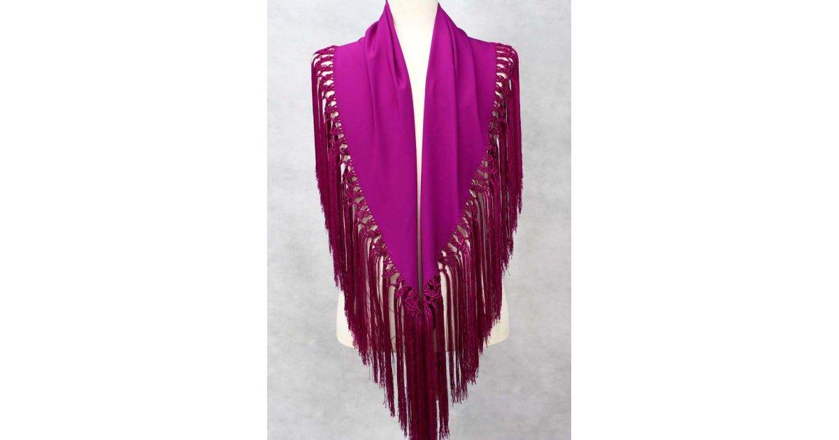 Bougainvillea shawl 150 cm.