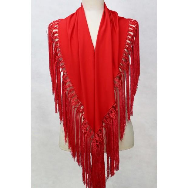 Coral shawl 150 cm.