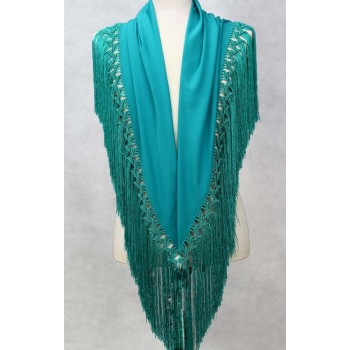 Shawl of Green color Water 150 cm.