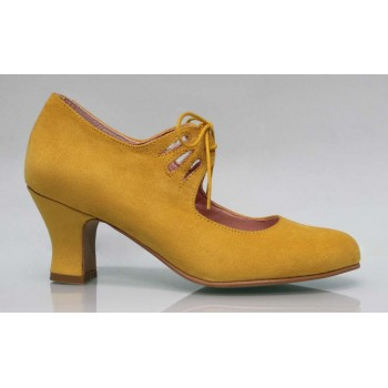 Flamenco Mustard Synthetic Suede Laces