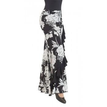 Falda Flamenco Negra Estampada