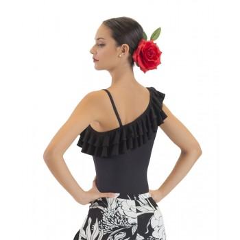 Maillot Flamenco Negro con Dos Volantes