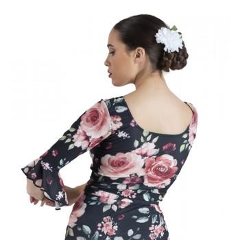 Top Flamenco Estampado Volantes