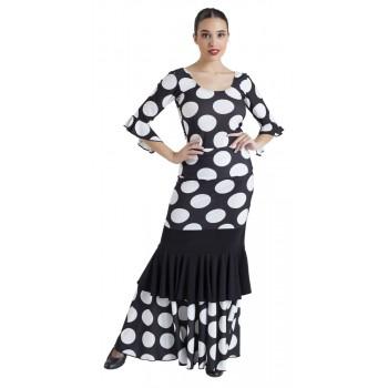 Top Flamenco Negro Lunares