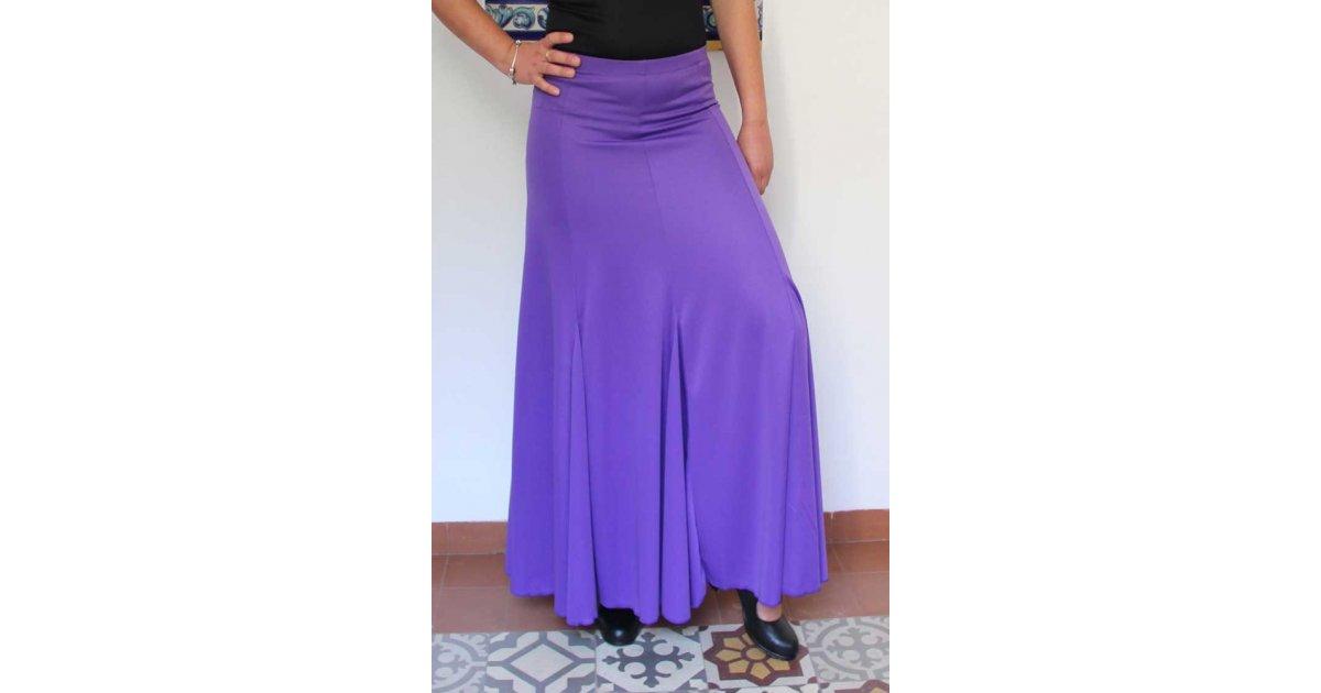 Purple Flamenco Skirt with nesgas