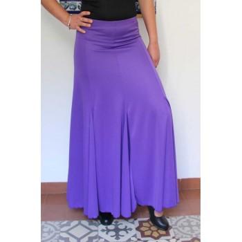Falda Flamenco Morado con nesgas