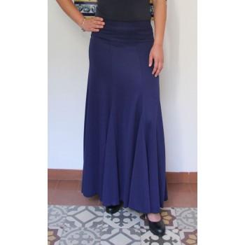 Jupe flamenco bleu marine avec nesgas