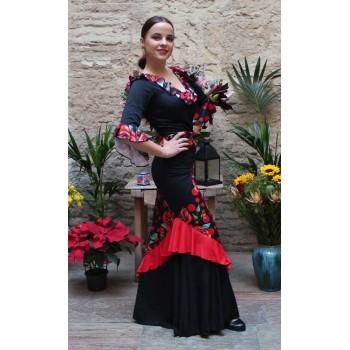 Falda Flamenco Combinada Flores y Lunares