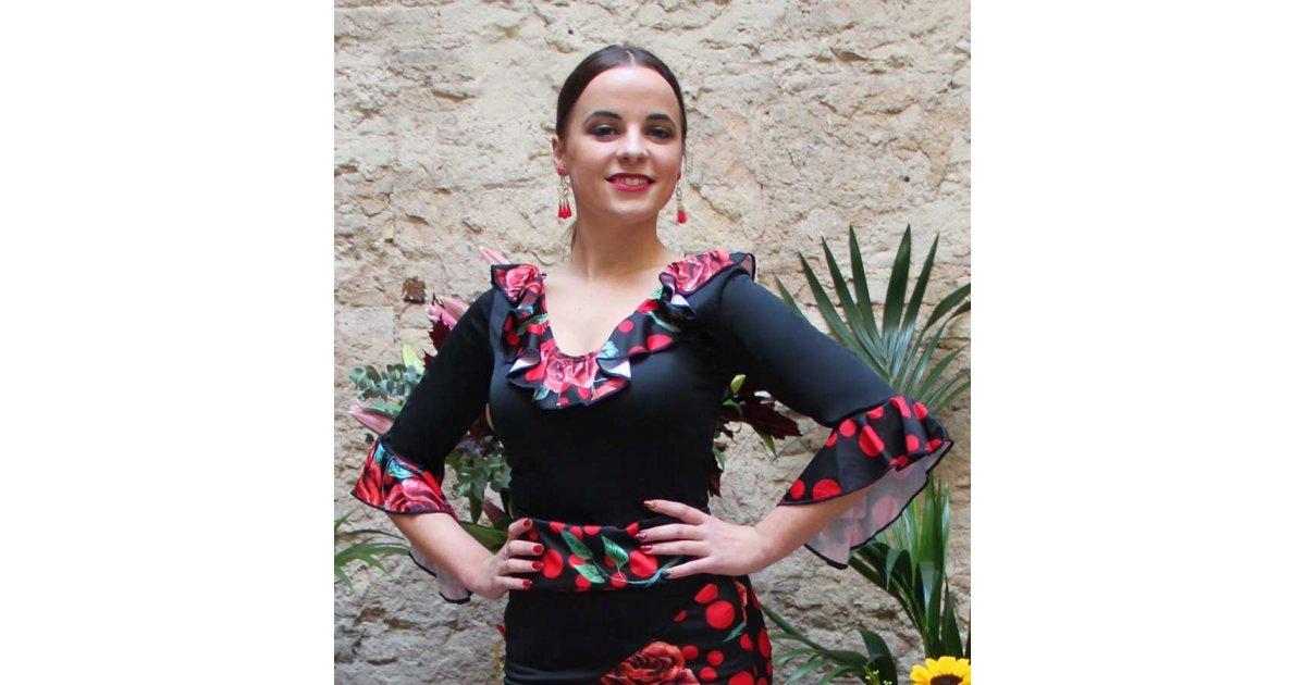 Haut Volants Noir Flamenco