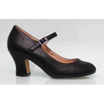 Flamenco shoe black leatherette