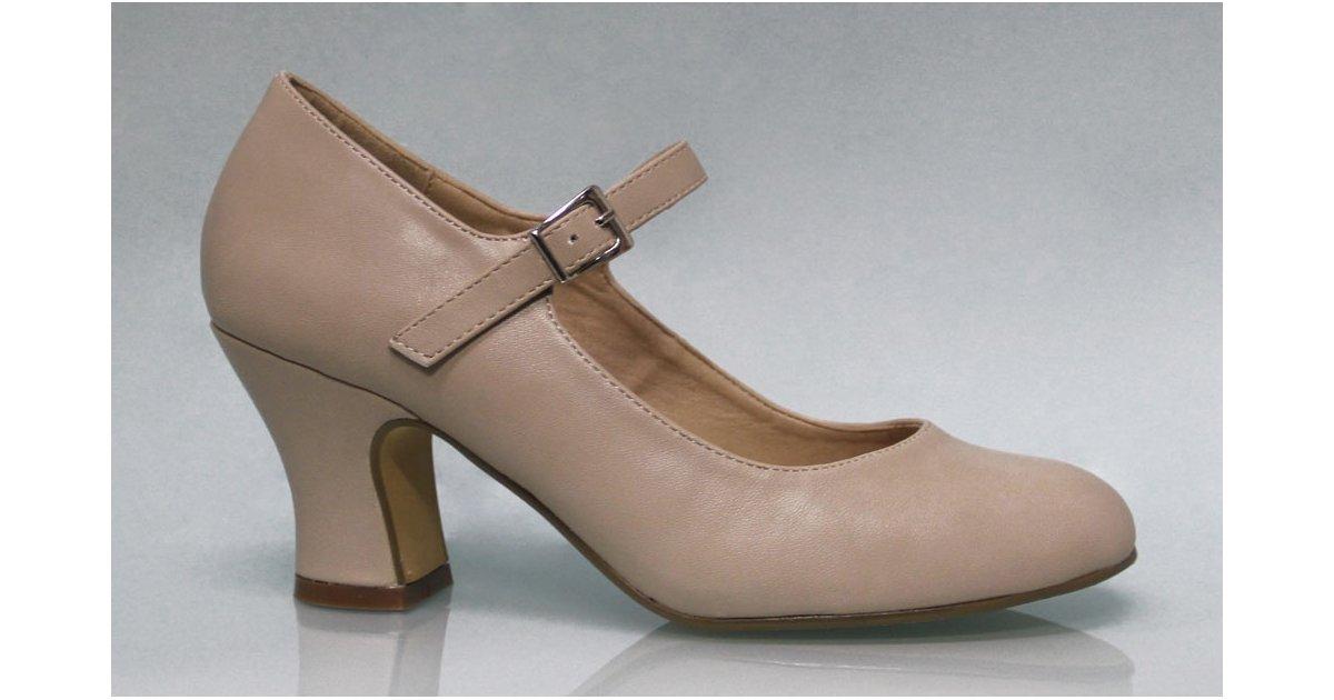 Zapato Flamenca Polipiel Beige