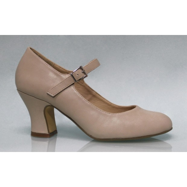 Beige Flamenco Shoes