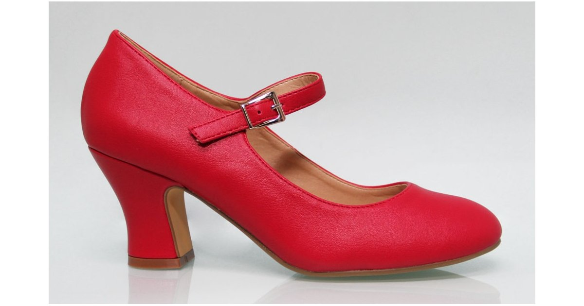 Red Flamenco Leatherette Shoe
