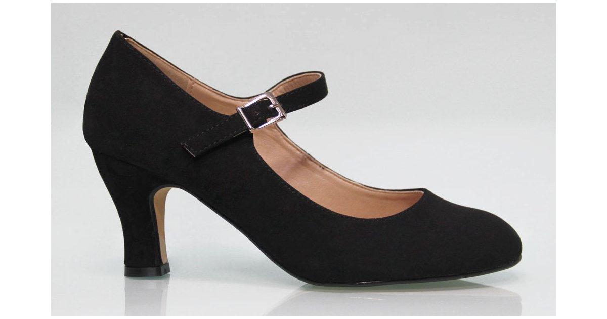 Black Flamenca Suede Shoe