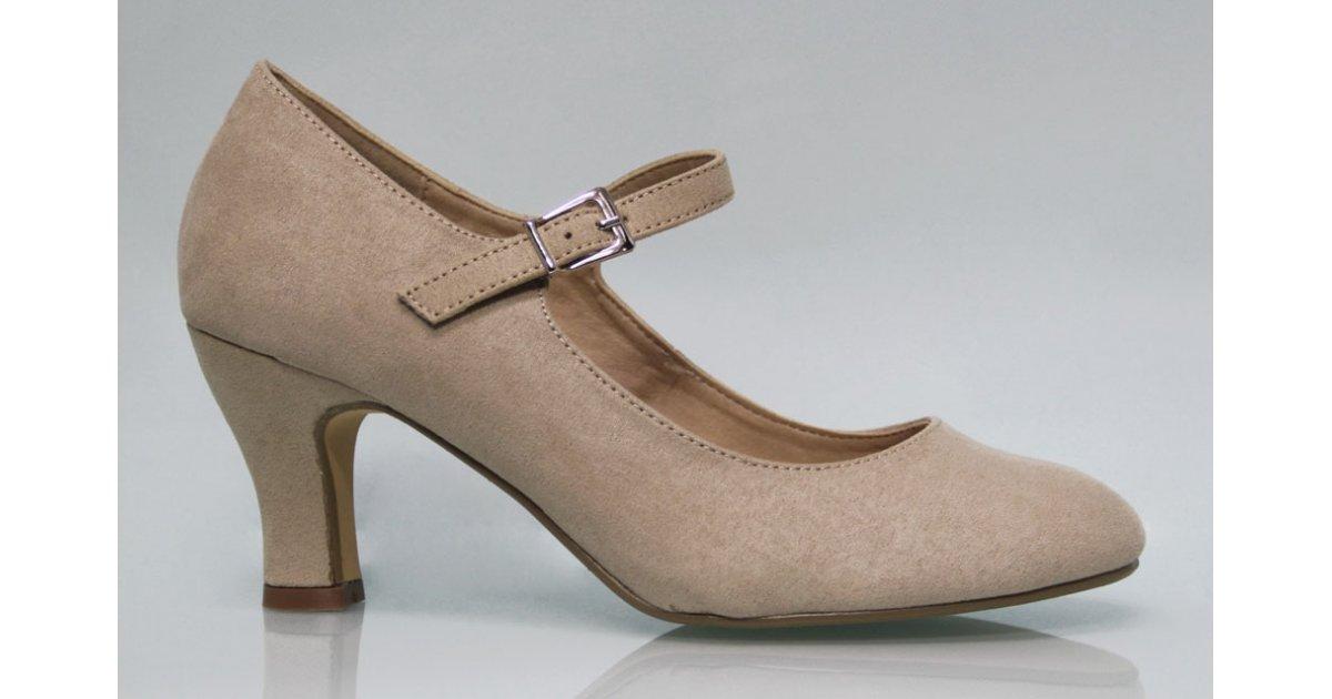 Suede Flamenco shoe Color Earth