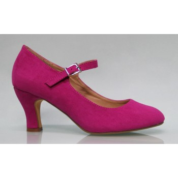 Buganvilla Flamenca synthetic Suede Shoe