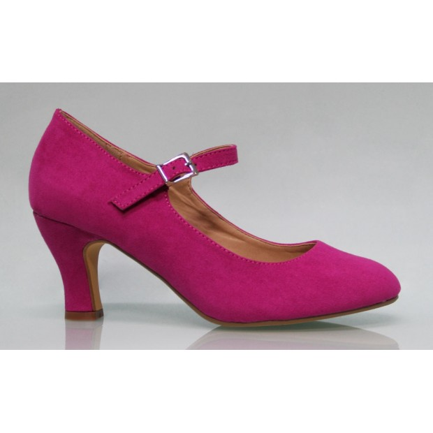 Zapato Flamenca Ante Buganvilla