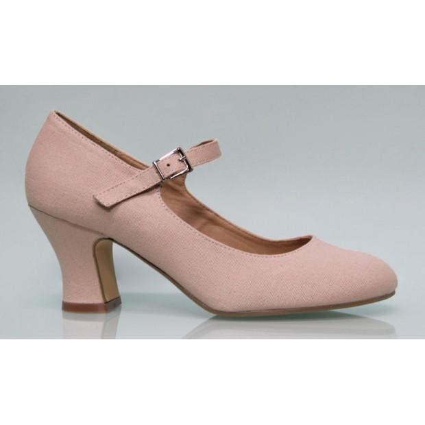 Zapato Flamenca Lona Maquillaje