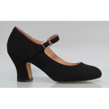 Chaussure en daim flamenca noire