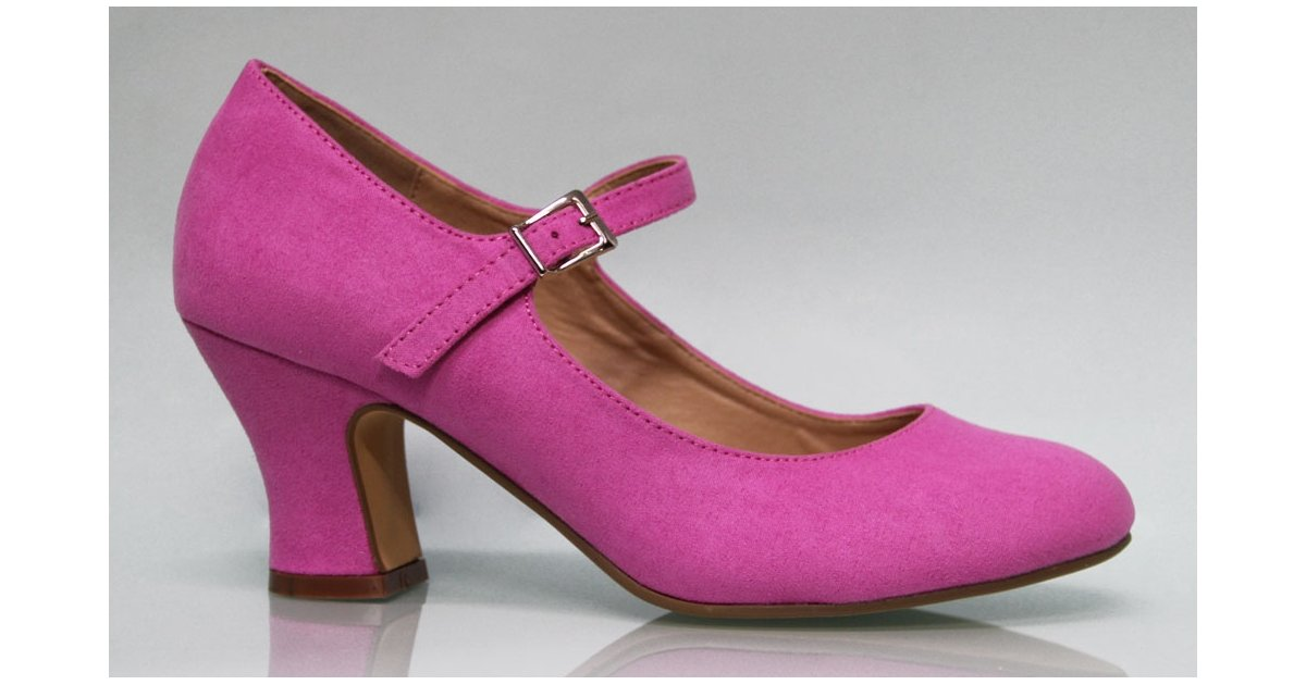 Fucsia Suede Flamenco Shoe
