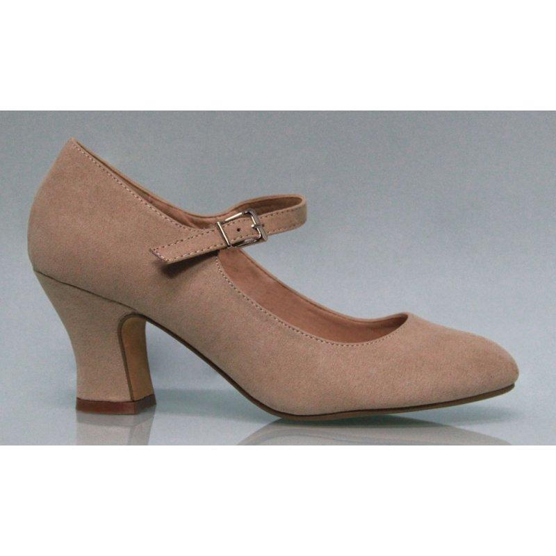 bas prix 2299e cd53a Chaussure en daim synthétique flamenca Couleur Terre
