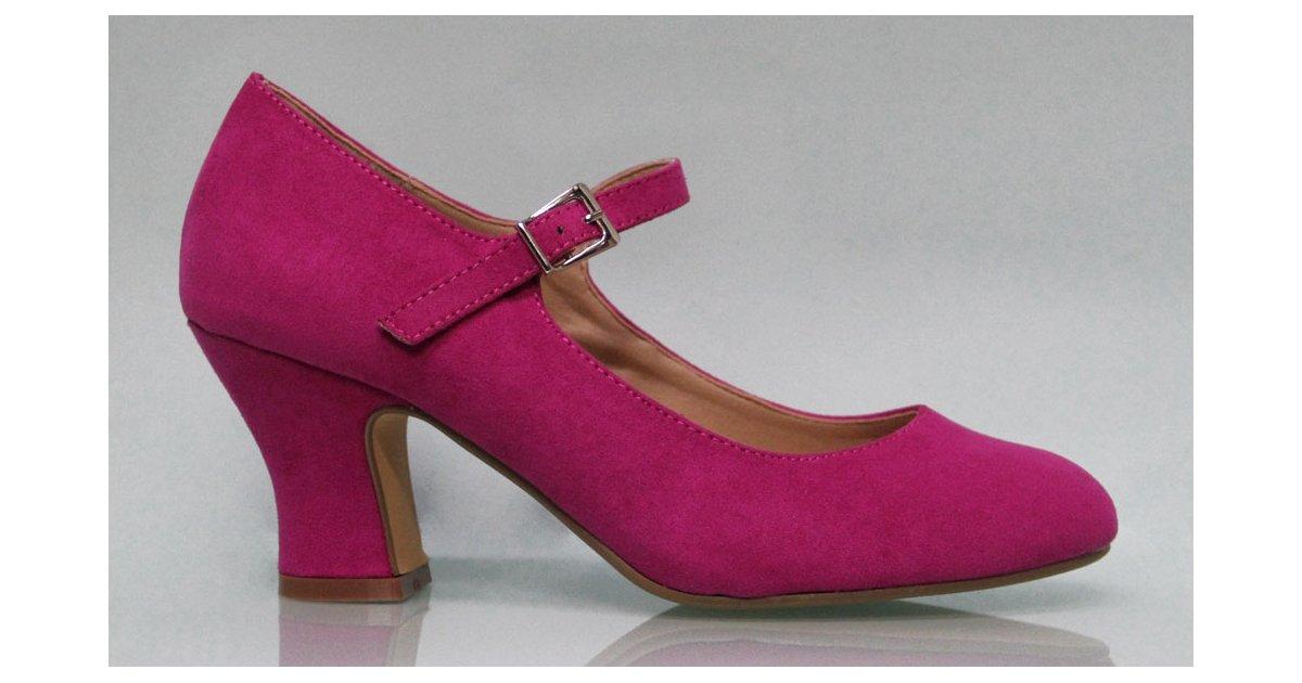 Flamenca suede leather shoe Buganvilla