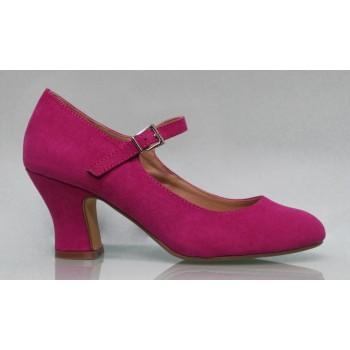 Chaussure Buganvilla en daim flamenca