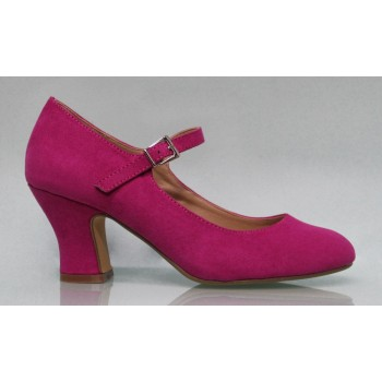 Flamenca suede leather shoe Buganvilla