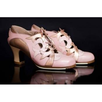 Zapato Baile Flamenco Profesional con Cordones