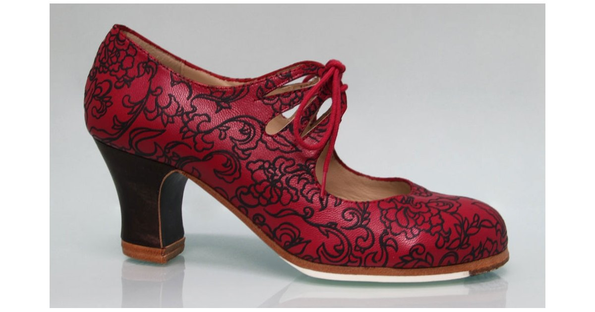 Red Fantasy Professional Shoe with Laces