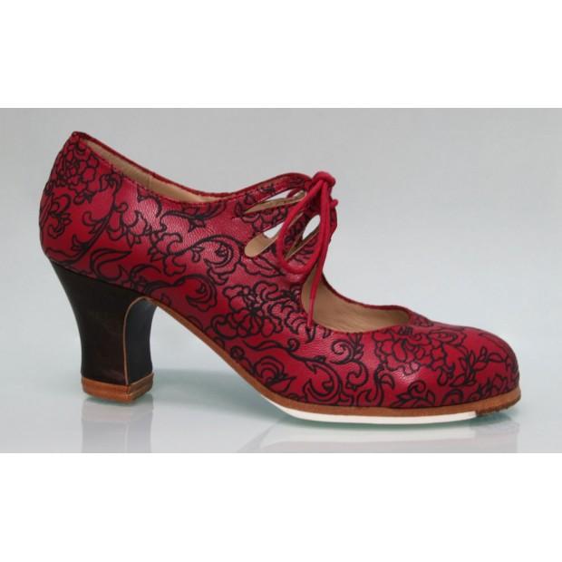 Red Fantasy Professional Flamenco Dance Shoe