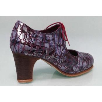 Zapato de baile flamenco profesional piel fantasía