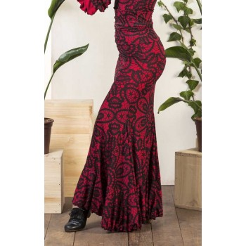 Flamenco skirt Olvera red print