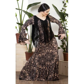 Camel Print Flamenco Dress