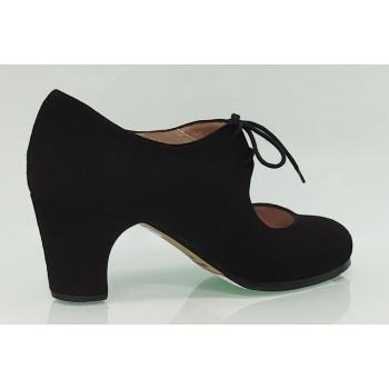Chaussure de danse flamenco semi-professionnelle en daim noir