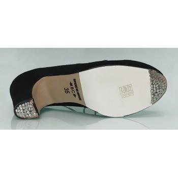 Zapato de baile flamenco semiprofesional ante negro