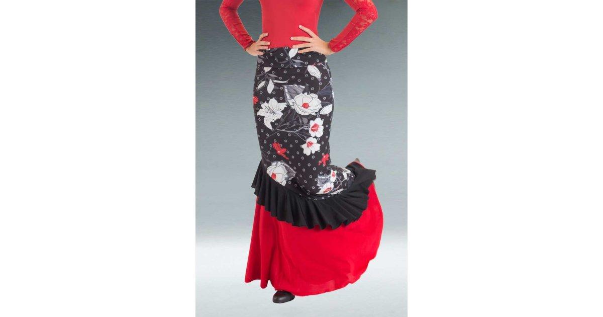 Floral Flamenco Skirt