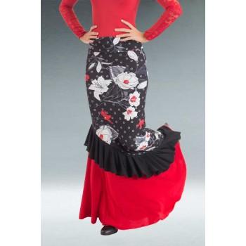 Falda Flamenco Entallada Flores