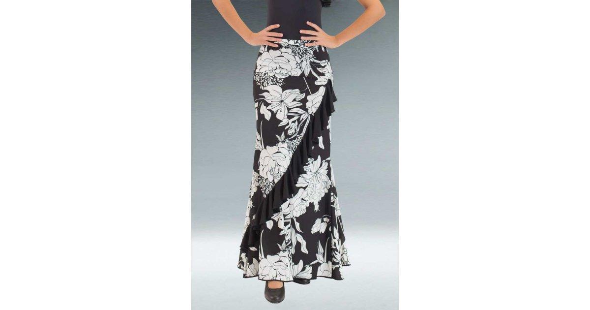 Black Flamenco Skirt Print