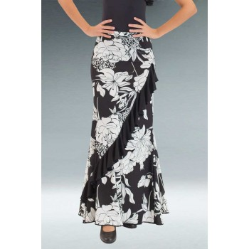Black Flamenco Skirt Print