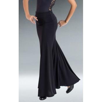 Falda Flamenco Negra Godet