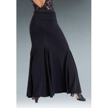 Godet Black Flamenco Skirt