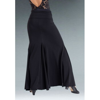 Godet Jupe Flamenco Noire