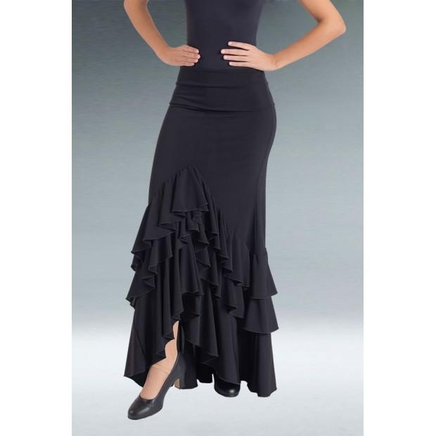 Jupe Flamenco Noire 3 Volants