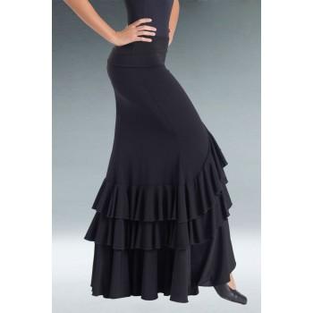 Falda Flamenco Negra 3 Volantes