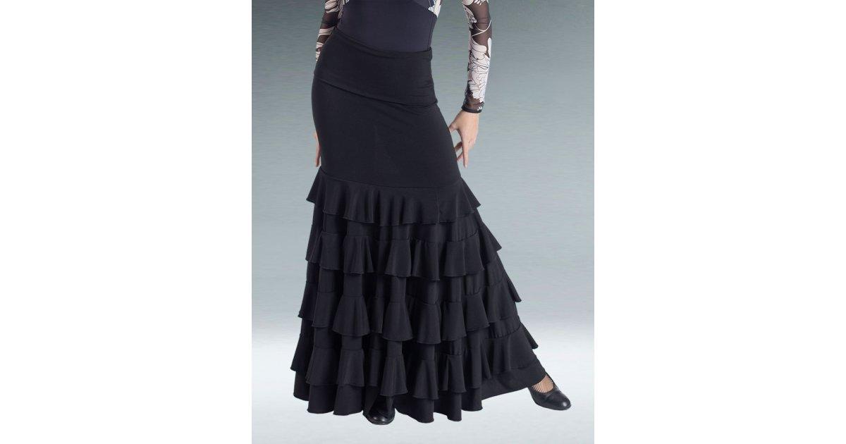 Black Flamenco Skirt Ruffles