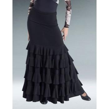 Jupe Flamenco Noire Volants
