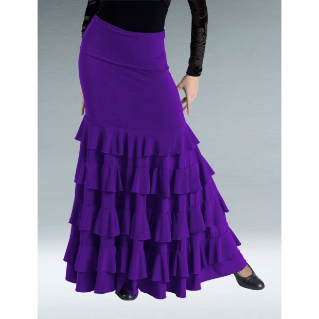 Jupe Flamenco Couleur Cardinal Ruffles