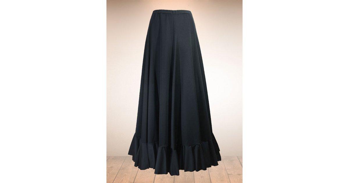 Flamenco Black Skirt Godets 1 Frills