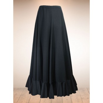 Flamenco Black Skirt Godets 1 Frills